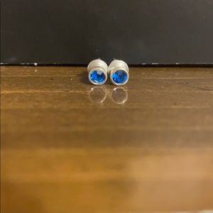 Kids Blue Stud Earrings